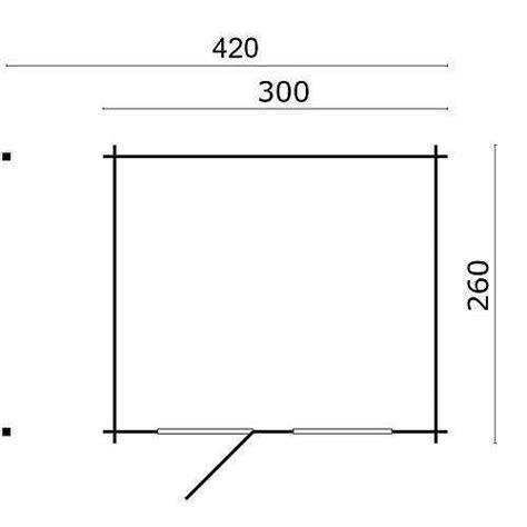 küchenzeile 260 cm blokhut lars 300 120 x 260 cm