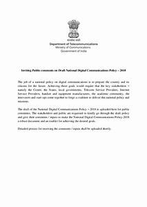 Draft National Digital Communications Policy 2018 | Smartnet