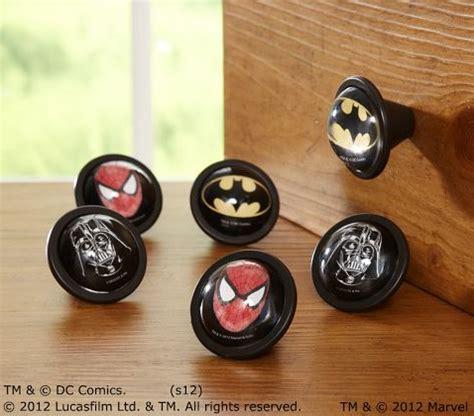 batman dresser knobs heroes marvel bedroom decals