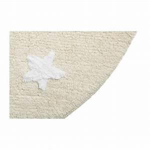 Tapis Rond Beige : tapis enfant coton rond beige etoiles blanches lavable en machine lorena canals d 140 cm ~ Teatrodelosmanantiales.com Idées de Décoration
