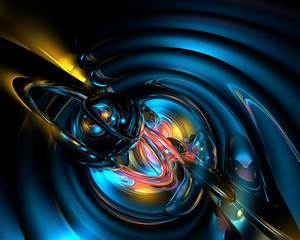 Abstract, 3, D, Blue, Graphics, Art, Works, Hd, Wallpapers, For