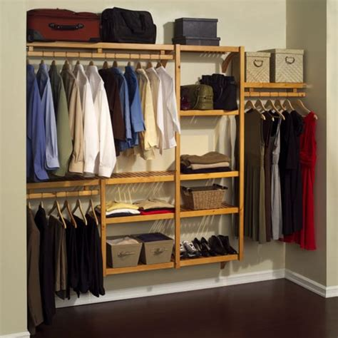 louis standard solid wood closet system 11051236