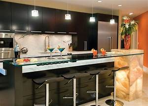 floating kitchen breakfast bar ideas also black granite With kitchen cabinet trends 2018 combined with gear wall art with clock