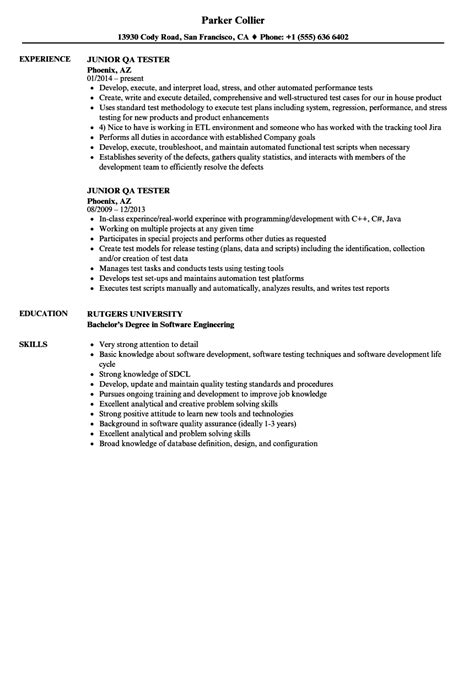 0 Experience Resume by 10 Qa Tester Resume No Experience Payment Format