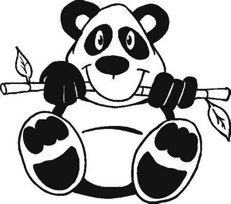 Dierenmasker Kleurplaat Panda by Panda