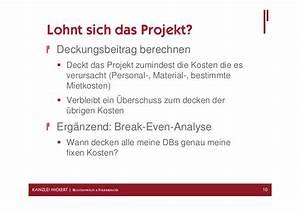 Break Even Berechnen : pr sentation zum 5 baufr hst ck ~ Themetempest.com Abrechnung