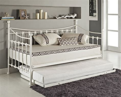 white metal loft bed white daybed with trundle versailles day bed and