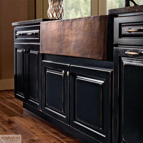 farm sink base cabinet kraftmaid apron sink base in vintage onyx farmhouse