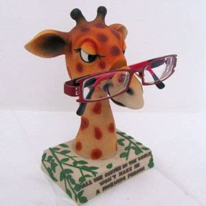 Eyeglass Holder Stand by China Resin Giraffe Glasses Holder Decoration Sfr0523