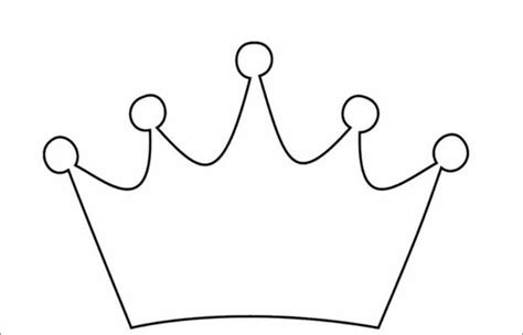 Free Printable Princess Crown Template by Crown Template Free Templates Free Premium Templates