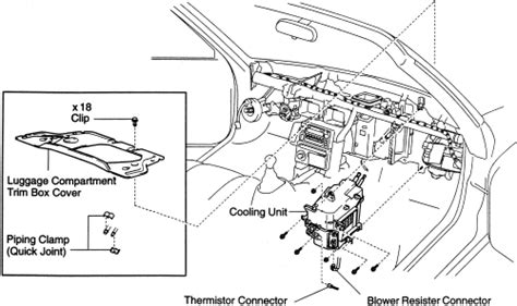 Hvac System Diagram 1991 Toyotum Mr2 by Repair Guides Heater Removal Installation