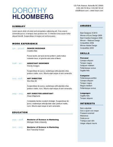 Resume Help Microsoft Word by 2 Column Resume Help Resume Template Exles