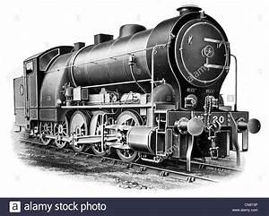 1900 Steam Train Locomotive Engine Railway Boiler Driver Carriage Stock Photo  Royalty Free