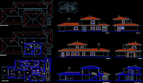 villa layout plans dwg plan  autocad designs cad