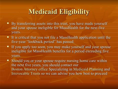 irrevocable trust  medicaid eligibility boston medicaid