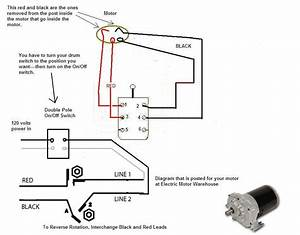 I Am Wiring A Cutler Hammer Db1 Drum Switch To A Dayton  Bison Ac Gear Motor 1lpp4  But Unsure