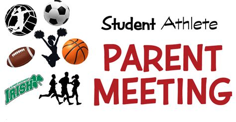 mandatory parent meeting  student athletes blessed