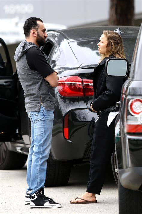Ronda Rousey Boyfriend Suzuki by Ronda Rousey And Boyfriend Out In Beverly 01 30