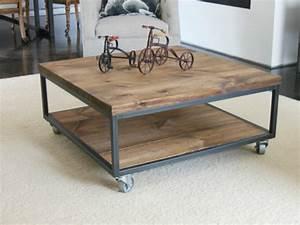 Table De Salon Originale : la table basse industrielle pour relooker vos chambres ~ Preciouscoupons.com Idées de Décoration