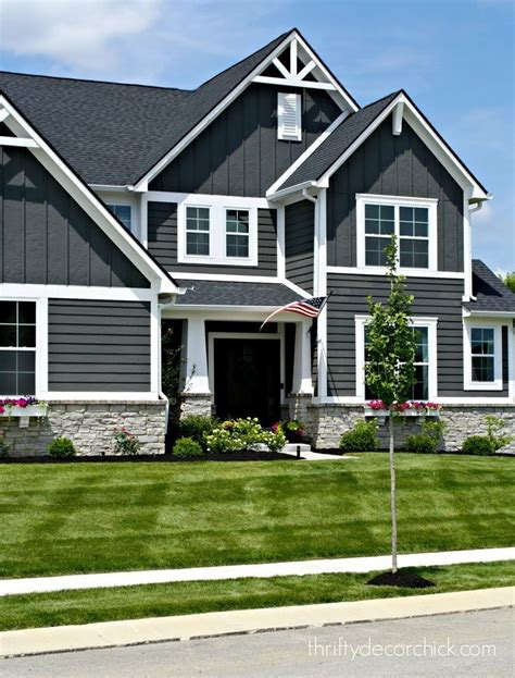 the exterior of our modern craftsman home exteriors outside house colors house paint