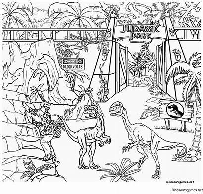 Jurassic Coloring Pages Dinosaur