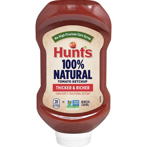 Hunt's 100% Natural Tomato Ketchup, 100% Natural Tomatoes ...