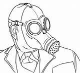 Colour Mask Gas Coloring Pages Zombie Own Gasmask Printable Deviantart Getcolorings Gasm sketch template