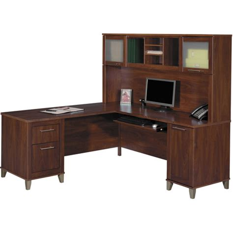 bush somerset desk with hutch bush somerset 71 quot l shaped computer desk with hutch