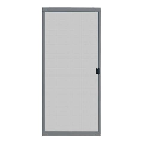 unique home designs 36 in x 80 in standard grey metal