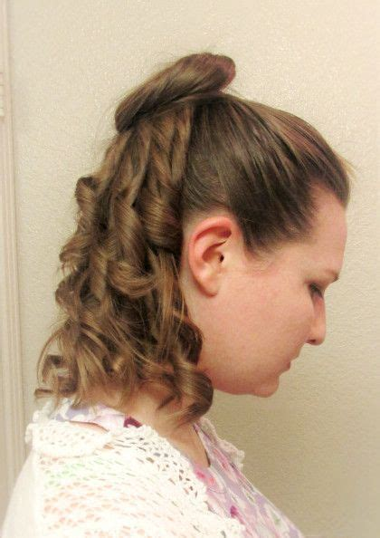 a simple 1870s hairstyle tutorial and a review of mona