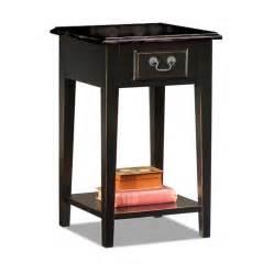 black oak edged quot square side table quot furniture living room
