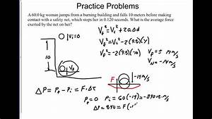Momentum and Impulse problems - YouTube