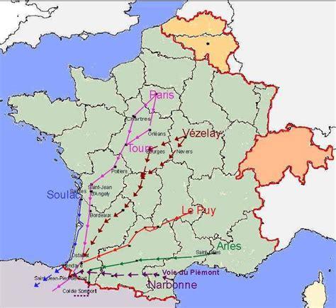 Chemin De St Jacques De Compostelle Carte Suisse by Cartes Des Chemins Vers Jacques De Compostelle Et