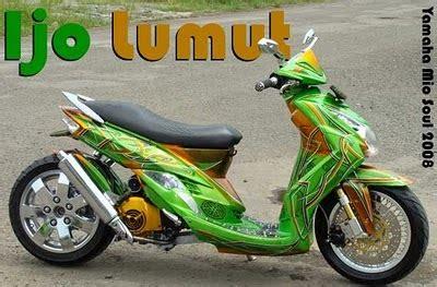 modifikasi motor matic matic drag bike yamaha mio soul automatic bike go green