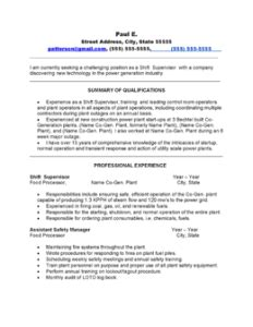 power plant operator resume objective resume for process operator