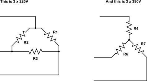 230 Single Phase Diagram by 3 Phase 380 V To 3 Phase 230 V Electrical Engineering