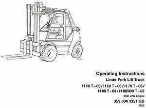 Linde Lpg Forklift Truck 353