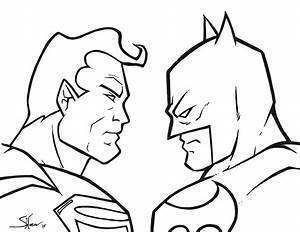 Superman v Batman sketch by Shane-Derek on DeviantArt
