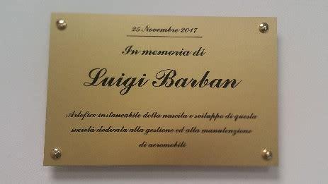 commemorative plate  memory   luigi barban aliplan