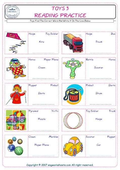 toys english worksheet  kids esl printable picture
