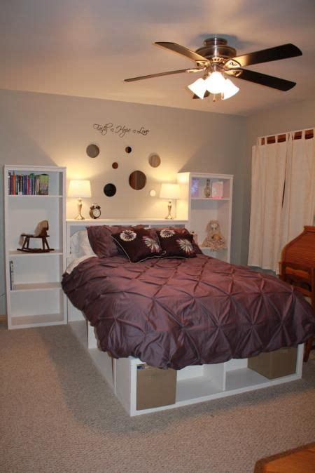 full size storage bed    home projects