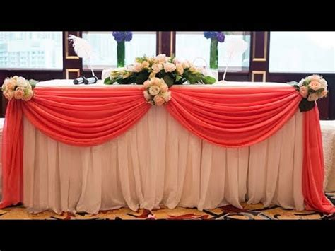 table cloth decoration how to swag table and decorate with flowers table cloth