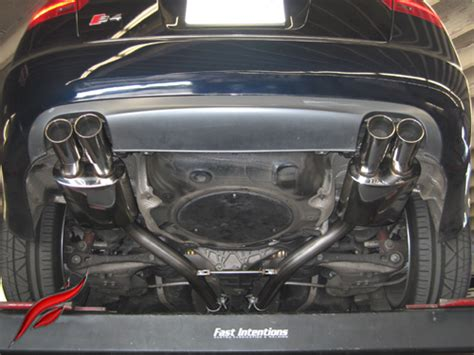 B7-s4 Cat Back Exhaust System, Fast Intentions