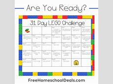 Free Printable 31Day LEGO Challenge instant download