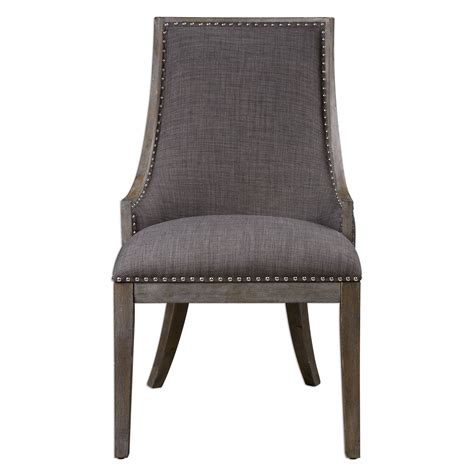 aidrian charcoal gray accent chair uttermost side chairs