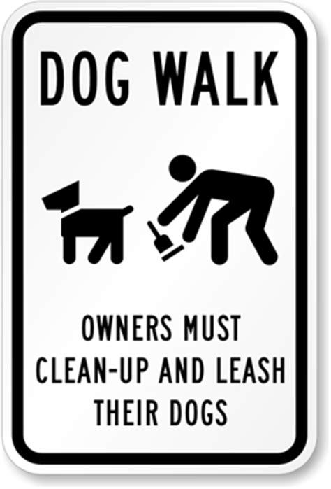 dog walk signs