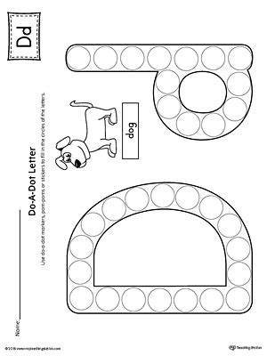 Letter D Tracing And Writing Printable Worksheet Myteachingstationcom