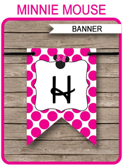 minnie mouse party banner template birthday banner