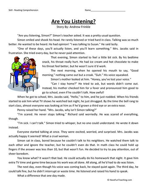 worksheet for 3rd grade reading kidz activities