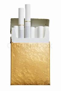 Pack Of Cigarettes Isolated Over White Background
